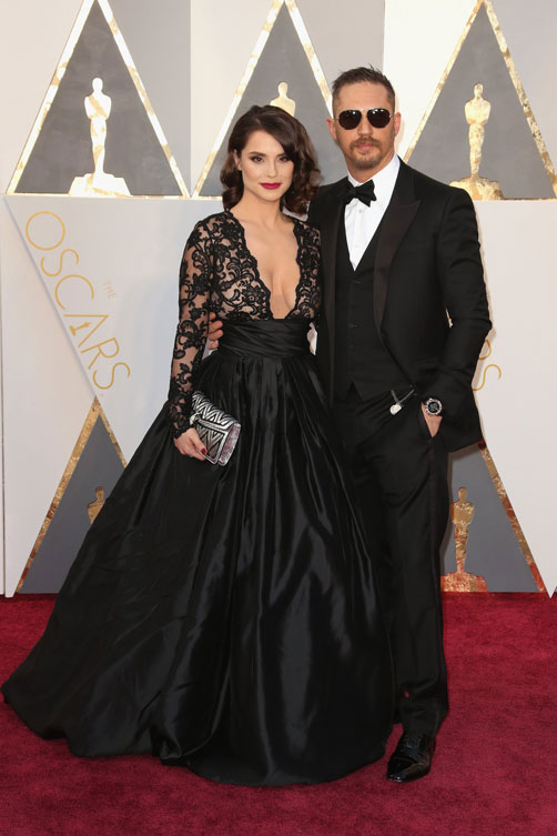 charlotte-riley-tom-hardy-oscars-red-carpet-2016