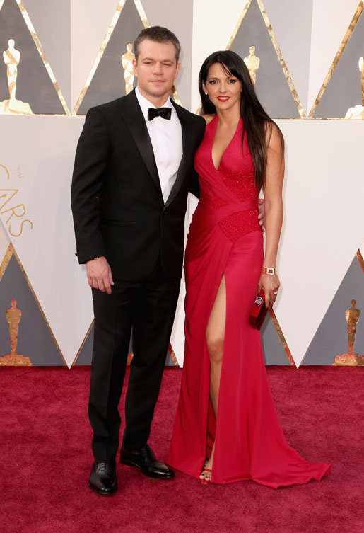matt-damon-luciana-barroso-oscars-red-carpet-2016